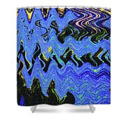 Old Columbia River Water Front Abstract Shower Curtain