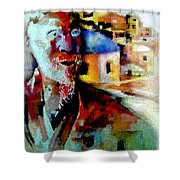 Old Consciousness Shower Curtain