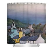 Old Copper Mining Town Shower Curtain