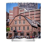 19- Old Corner Book Store Eckfoto Boston Freedom Trail Shower Curtain