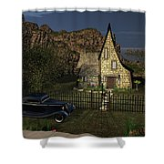 Old Cottage Shower Curtain