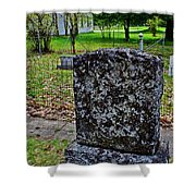 Old Country Cemetery Shower Curtain
