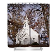 Old Country Church In Alabama Shower Curtain