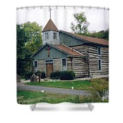 Old Country Church  Shower Curtain