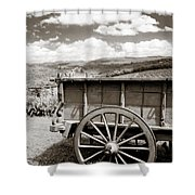 Old Country Wagon Shower Curtain