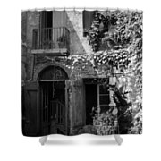 Old Courtyard Shower Curtain