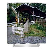 Old Covered Bridge In Pennsylvania  Shower Curtain