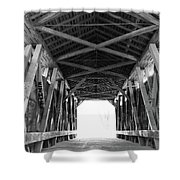 Old Covered Bridge Shower Curtain