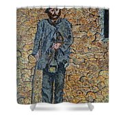 Old-crafts-the-lamplighter-italy-1800 Shower Curtain
