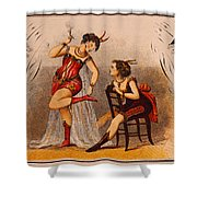 Old Crow Whiskey Shower Curtain