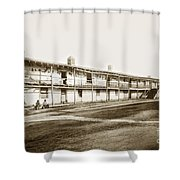 Old Cuartel. Mexican Soldiers Barracks Monterey Circa 1885 Shower Curtain