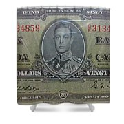 Old Currency  Shower Curtain
