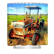 Old David Brown Tractor  Shower Curtain