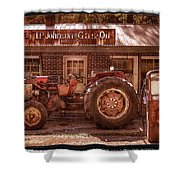 Old Days Vintage Shower Curtain