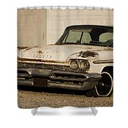 Old Desoto In Sepia Shower Curtain