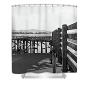 Old Dock Shower Curtain