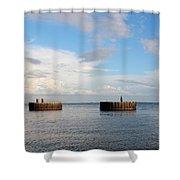 Old Docks Of Gasparilla Shower Curtain