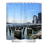 Old Docks Shower Curtain