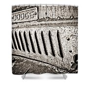 Old Dodge Grille Shower Curtain