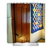 Old Door - New Quilt Shower Curtain
