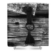 Old Door Latch Shower Curtain