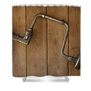 Old Drill Shower Curtain