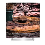 Old Drinking Cup Shower Curtain