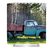 Old Dump Truck Shower Curtain