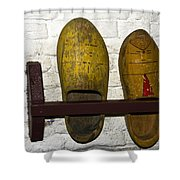 Old Dutch Wooden Shoes Shower Curtain