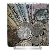 Old Ecuadorian Currency Shower Curtain