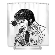 Old Elvis Shower Curtain