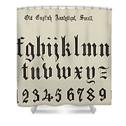 Old English Analytical, Small Shower Curtain