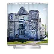 Old English Congregational Church Shower Curtain