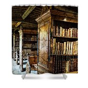 Old English Library Shower Curtain