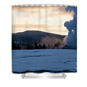 Old Faithful At Daybreak Shower Curtain