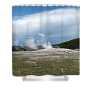 Old Faithful Before Shower Curtain