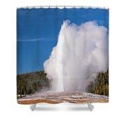 Old Faithful Eruption Two Shower Curtain