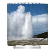 Old Faithful Erupts Shower Curtain