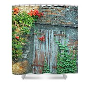 Old Farm Door Shower Curtain