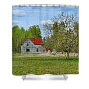 Old Farm House In Langley Shower Curtain