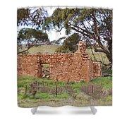 Old Farm House Ruin  Shower Curtain