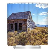 Old Farm House Widtsoe Utah Ghost Town Shower Curtain