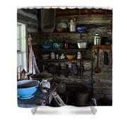 Old Farm Kitchen Shower Curtain