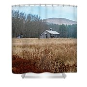 Old Farm Saturated Shower Curtain