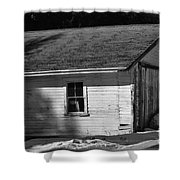 Old Farm Shed Shower Curtain