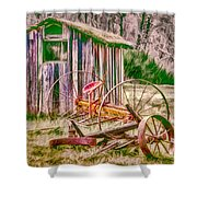 Old Farm Tools Shower Curtain