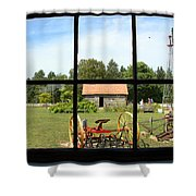Old Farm View Shower Curtain