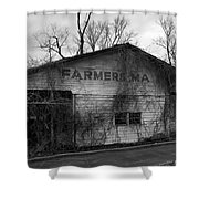 Old Farmer's Market Shed Shower Curtain