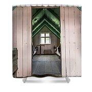 Old Farmhouse Interior Iceland Shower Curtain