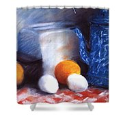 Old Fashioned Breakfast Shower Curtain